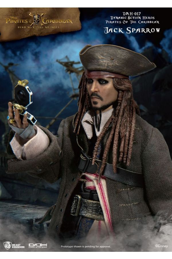 PIRATES OF THE CARIBBEAN DYNAMIC 8CTION HEROES CAPTAIN JACK SPARROW