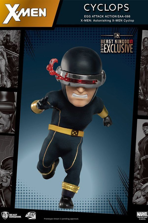 X-MEN ASTONISHING CYCLOPS EGG ACTION FIGURE 10TH ANNIVERSARY LIMITED EDITION