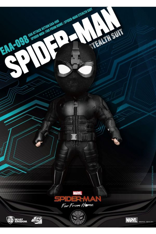 SPIDER MAN FAR FROM HOME:  EGG ATTACK ACTION - SPIDER-MAN STEALTH SUIT