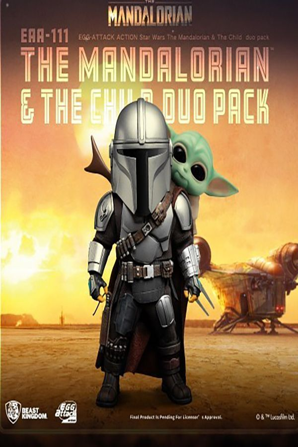 THE MANDALORIAN & THE CHILD DUO PACK EGG ATTACK ACTION