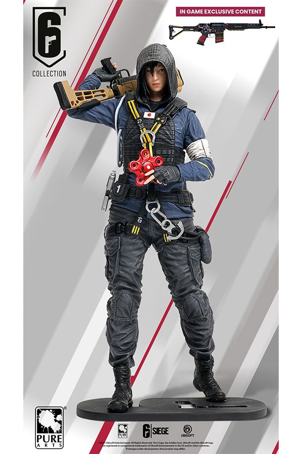 RAINBOW SIX HIBANA WITH EXCLUSIVE IN GAME  DLC PVC